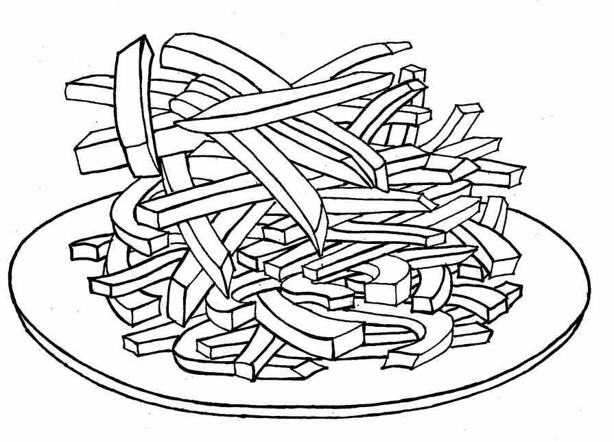 french fries coloring pages - photo#36