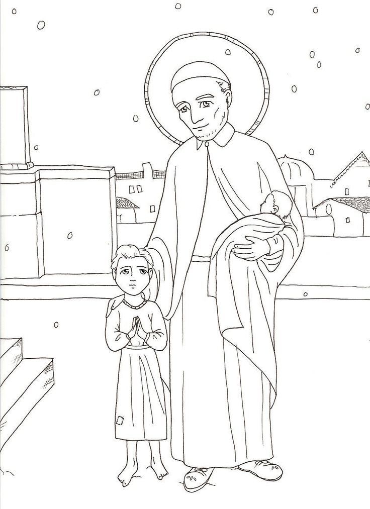 coloring pages for st francis - photo#14