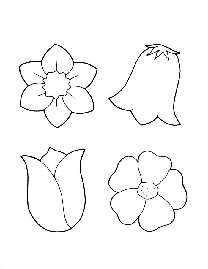 Flower Template For Kids To Cut Out