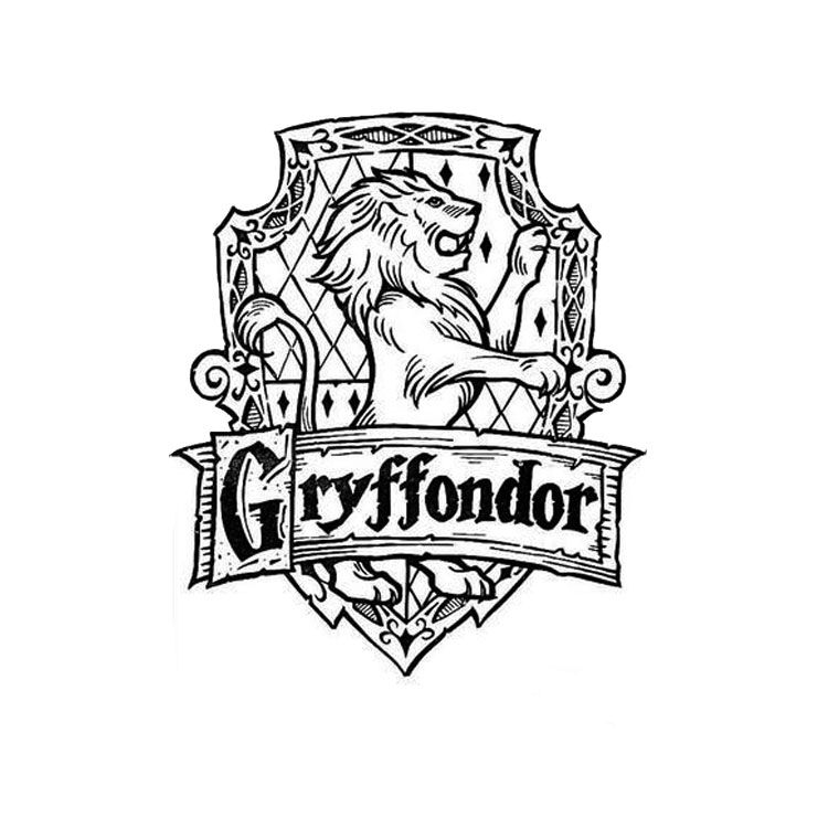 This is a photo of Dashing hogwarts crest coloring page