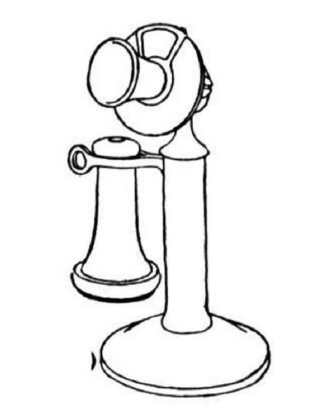 Old Phone Coloring Page
