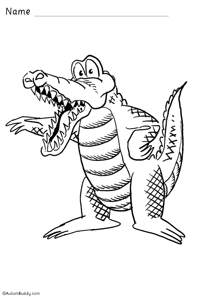 free coloring pages of crocodile activities
