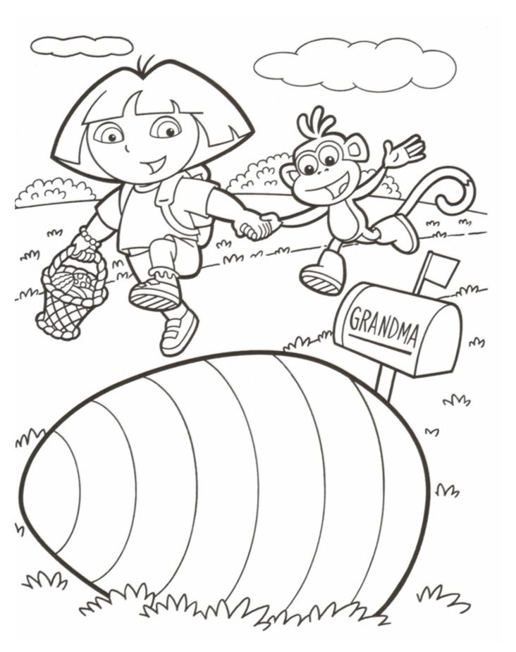 A4 Kleurplaten Dora.Dora Birthday Coloring Pages Coloring Home
