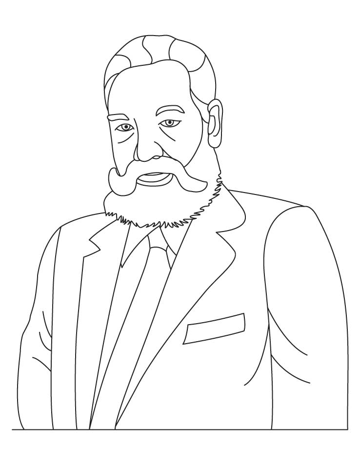 Alexander Graham Bell coloring pages | Download Free Alexander