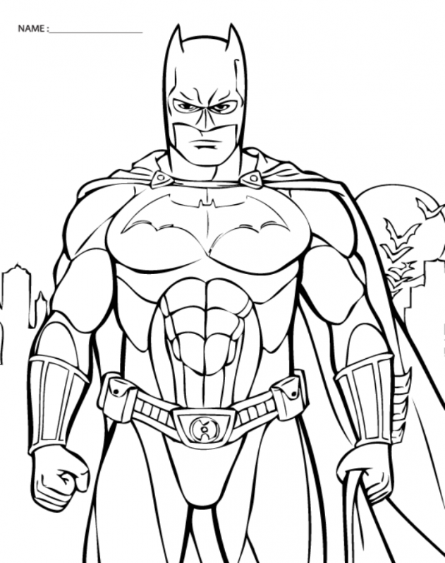 Batman Images Free Coloring Home Coloring Pages For Printable