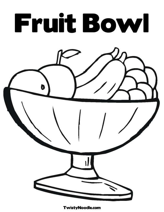 Fruit Bowl Line Drawing Fruit Bowl Drawing For Kids