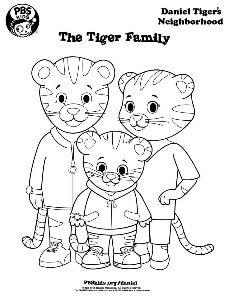 daniel tiger family coloring pages - photo#1