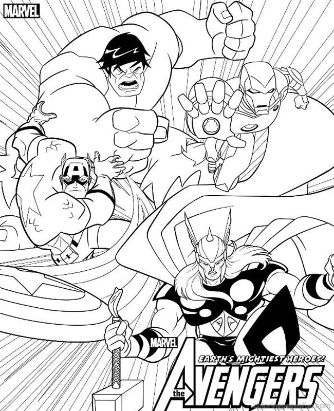 Vemarvel Avengers Colouring Pages
