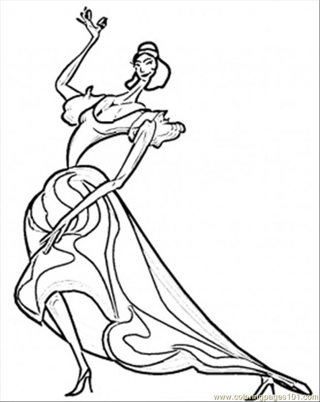 coloring pages flamenco dancers - photo#28