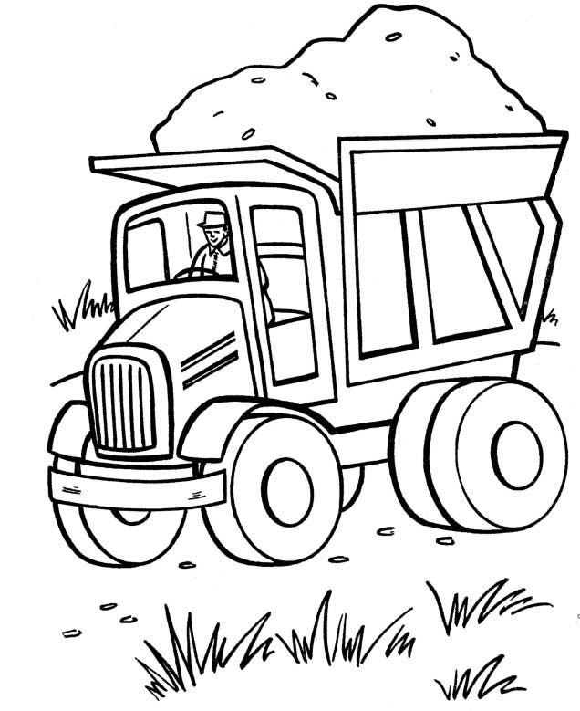 big truck coloring pages - photo#9