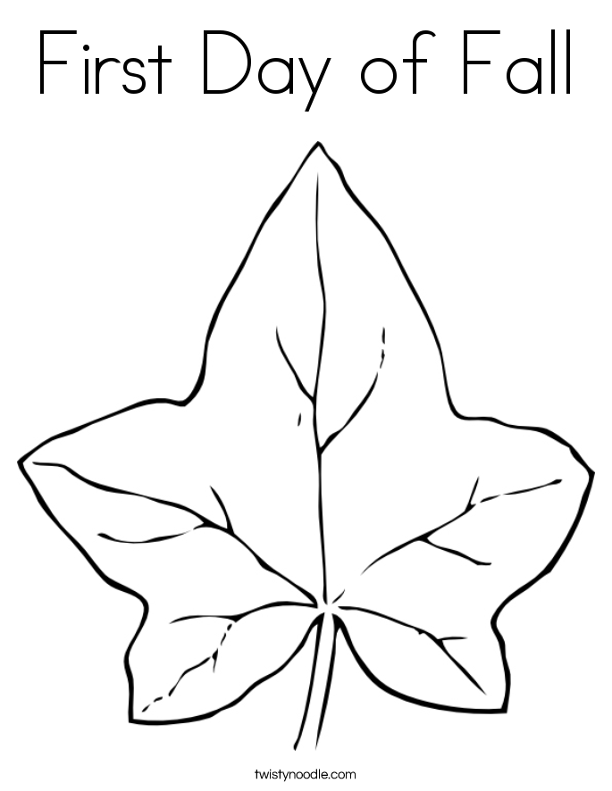 First Day of Autumn Coloring Pages | Free Internet Pictures
