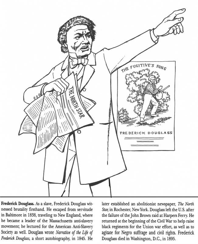 Frederick Douglass Coloring Page  Coloring Home
