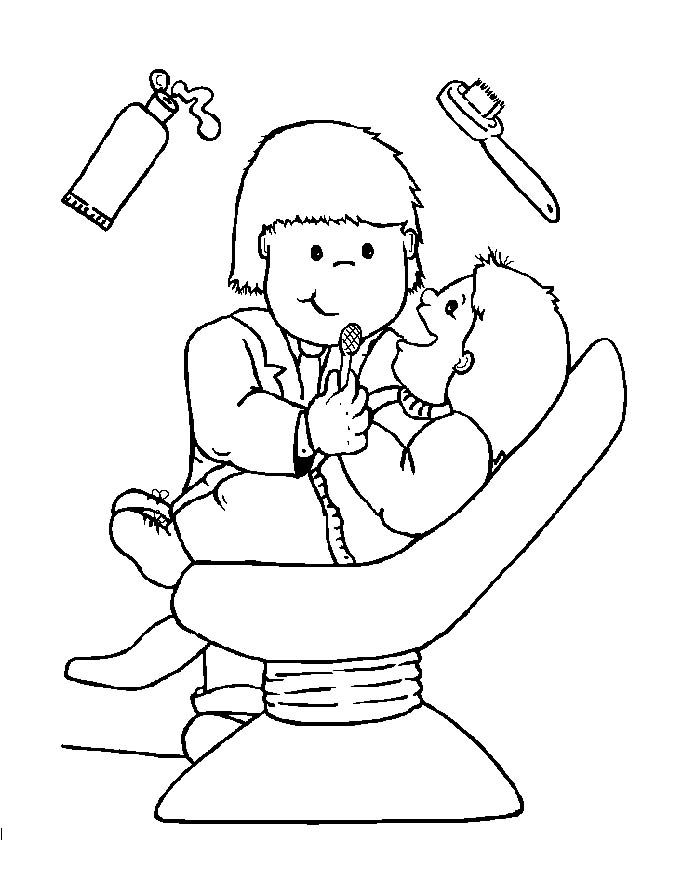 coloring book pages dentist - photo#6