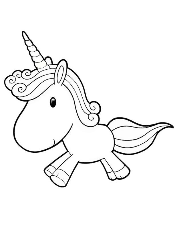cute baby unicorn coloring pages coloring pages for kids - Cute Baby Unicorns Coloring Pages