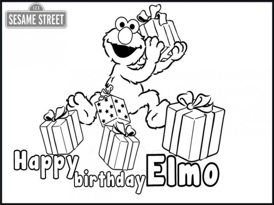 Sesame Street Birthday Coloring Pages Printable Sesame Street