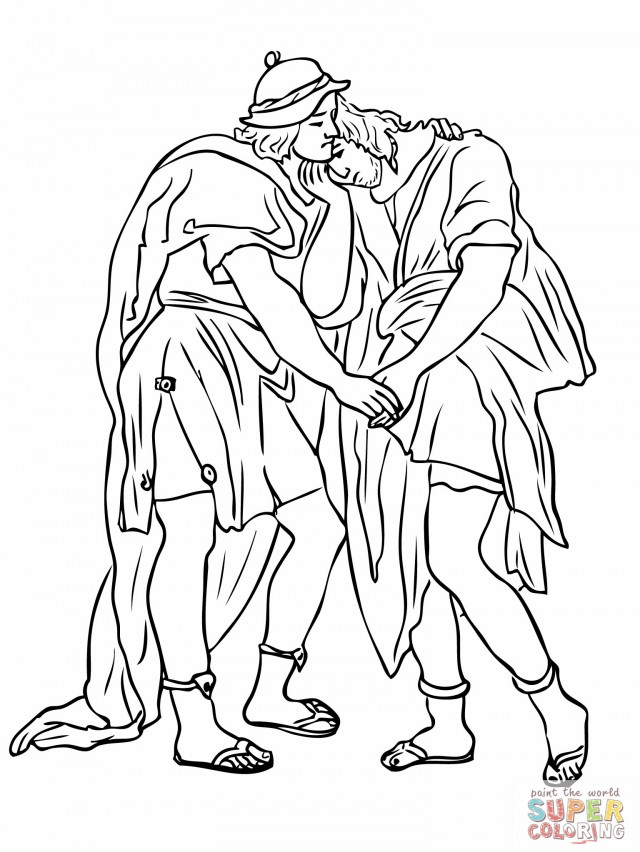 Jonathan And David Coloring Pages Az Coloring Pages David And Jonathan Coloring Page