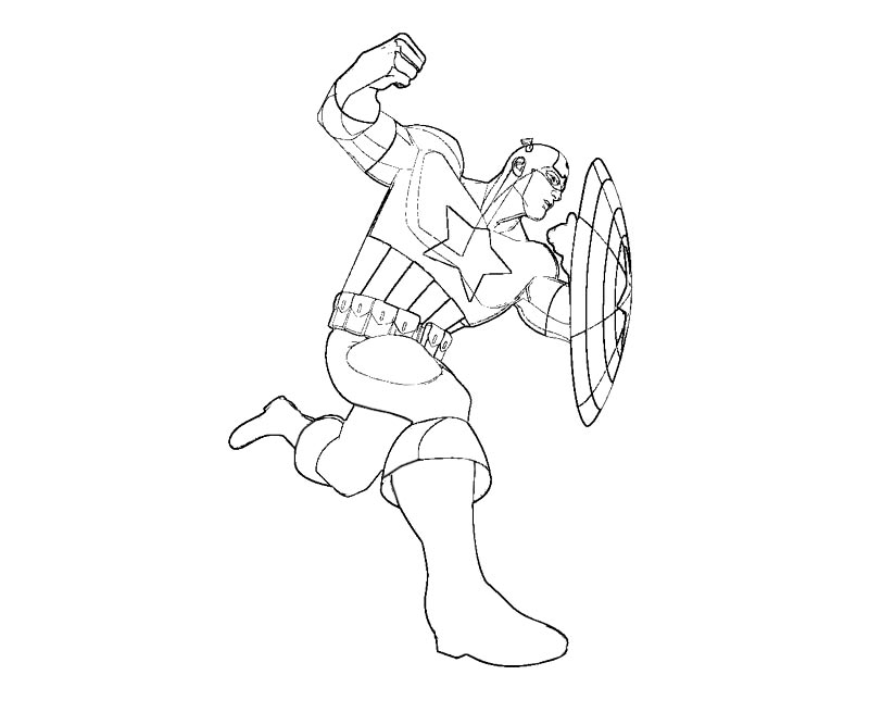 Lego Marvel Coloring Pages Awesome Gemtlich: Captain America Pictures To Color