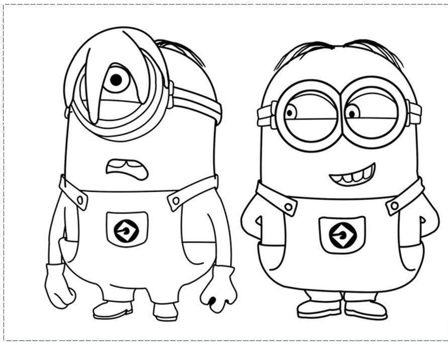 Cartoon Coloring Coloring Pages Of Minions From