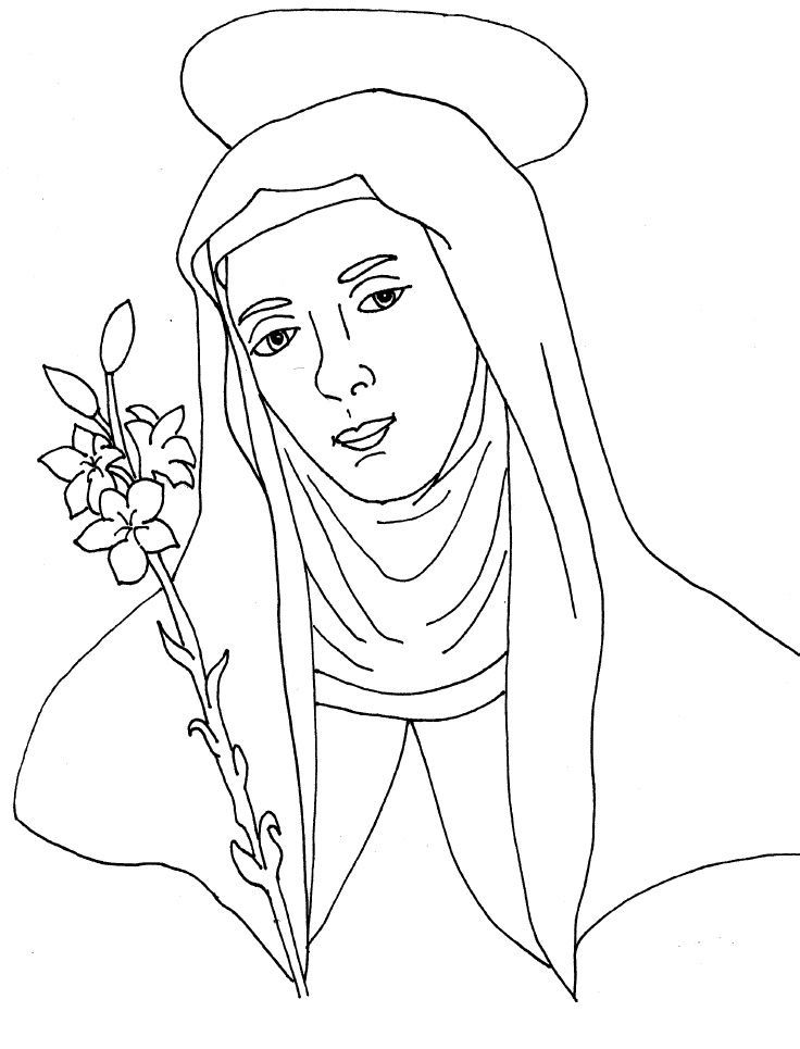 Catholic Saint Coloring Pages Coloring Home Catholic Coloring Pages