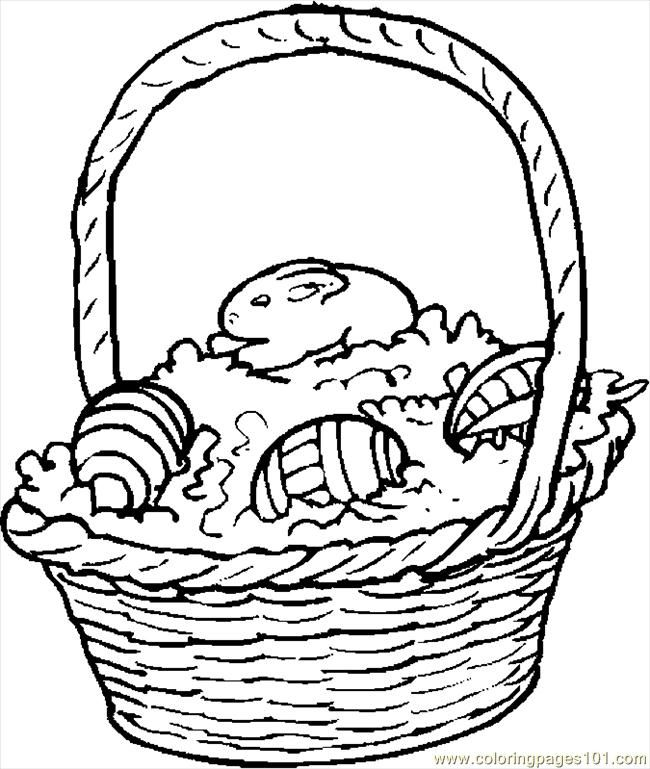 Easter Baskets Coloring Pages Az Coloring Pages Easter Basket Printable Coloring Pages