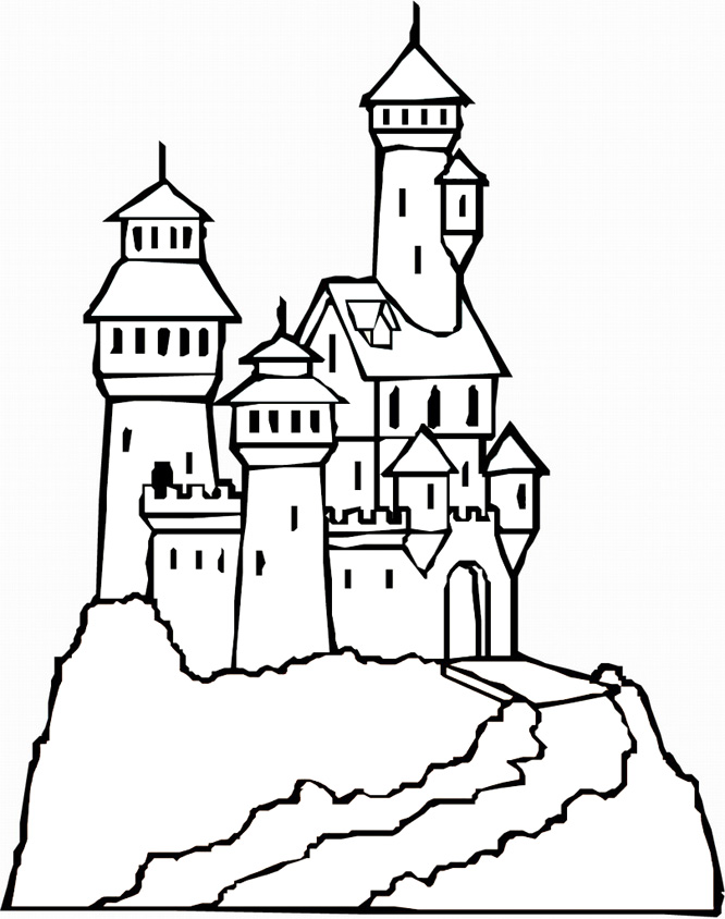 Colouring Pages Princess Castle : Princess castle coloring page az pages