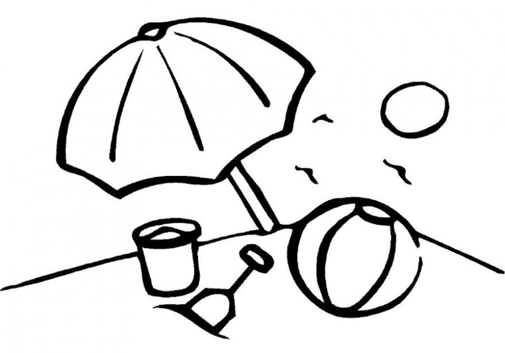 Beach Themed Coloring Pages AZ