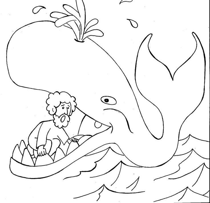 Jonah Coloring Pages Jonah And