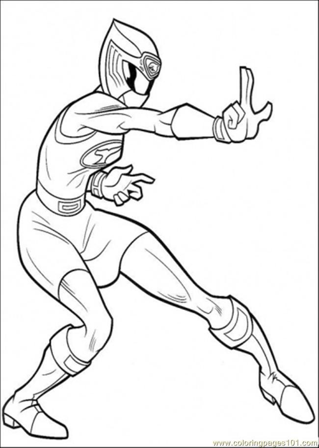 power ranger pink Colouring Pages