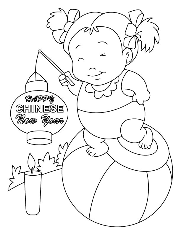 chinese new year coloring page az coloring pages