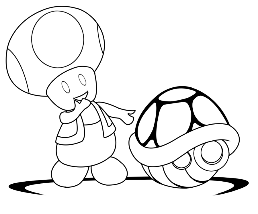 Toad From Mario Pictures - Coloring Home