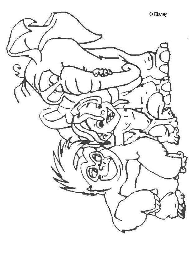 images tarzan coloring pages - photo#27