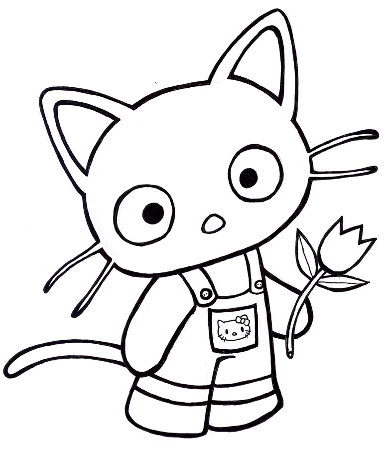 chococat coloring pages - photo#1