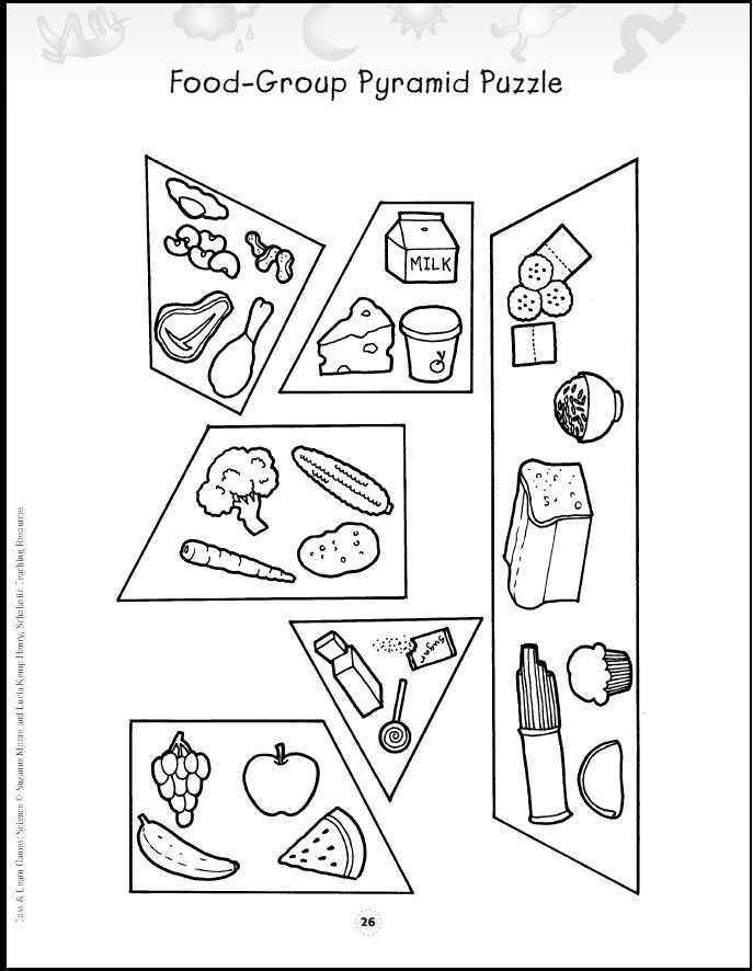 free food group coloring pages - photo#5