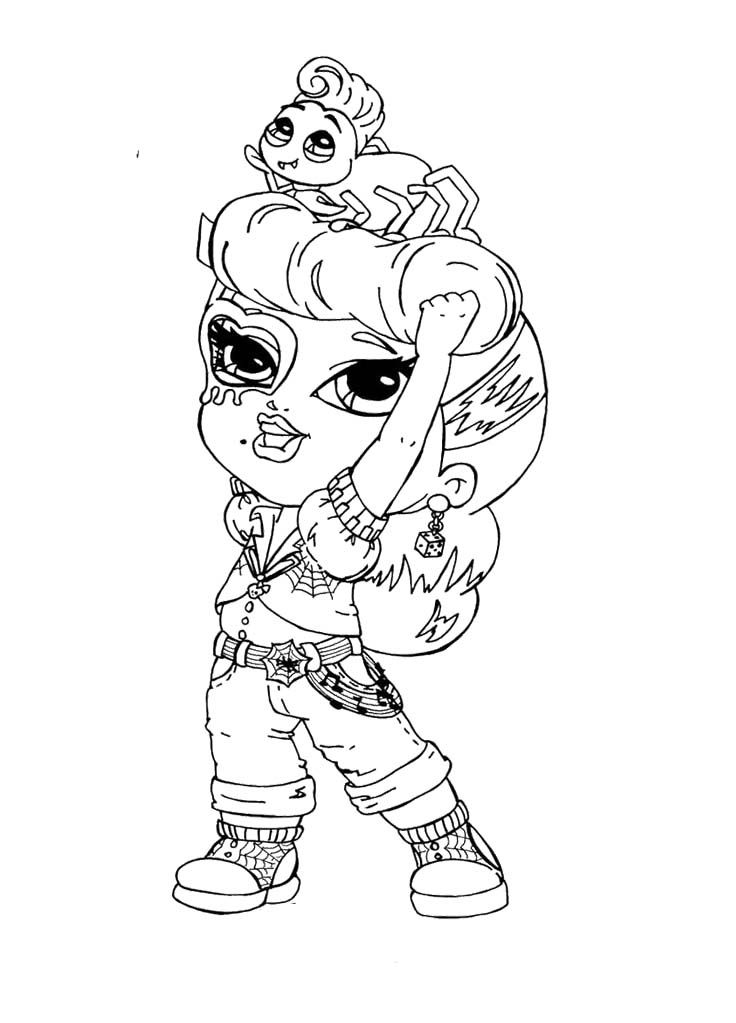 Coloring pages monster high az coloring pages for Operetta monster high coloring pages