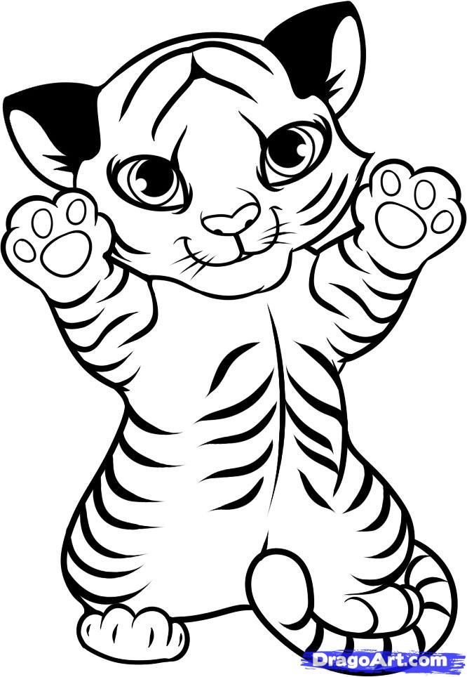 cartoon tiger picture az coloring pages