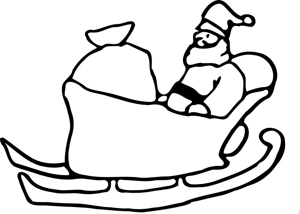 Santa sleigh coloring page coloring home for Santa and sleigh coloring pages