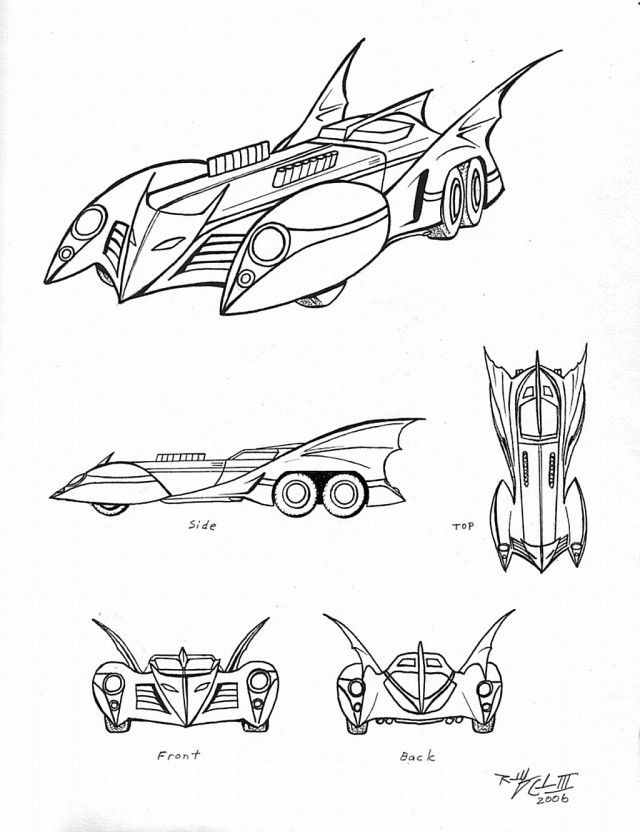 The Batmobile Colouring Pages Batmobile Coloring Pages Printable