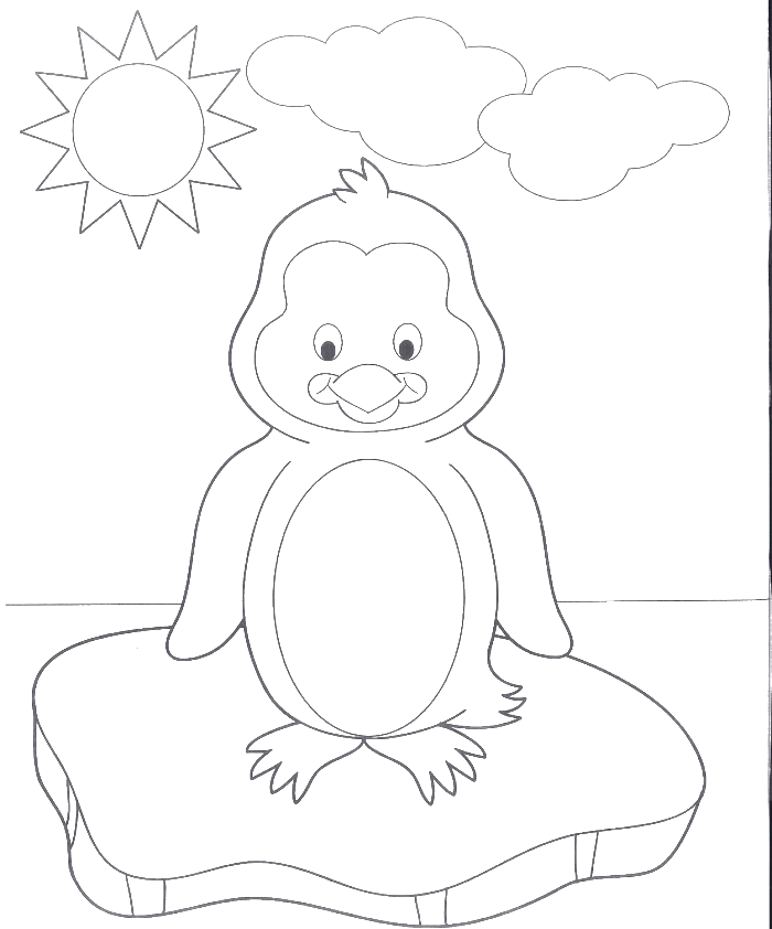 A Very Cute Baby Penguin Coloring Pages - Penguin Coloring Pages