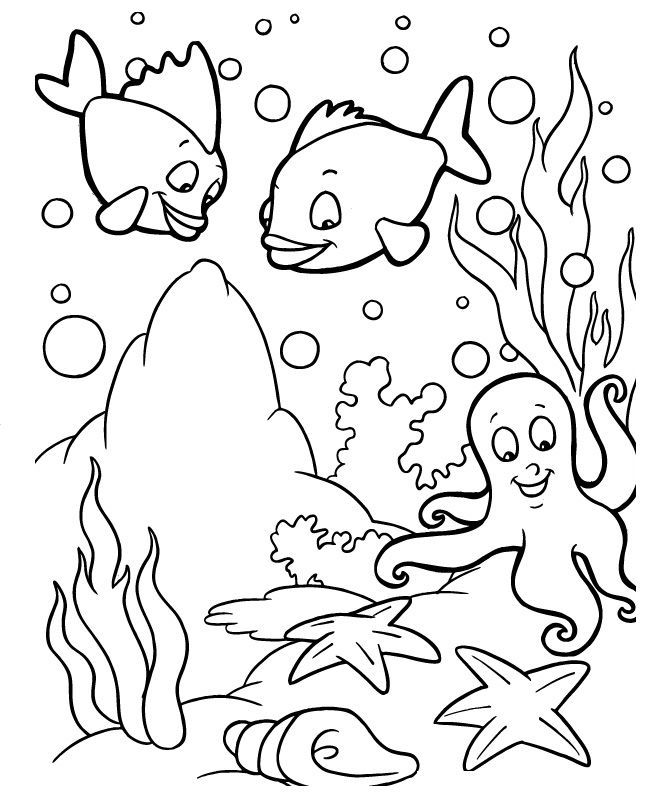 ocean scenes coloring pages - photo#11