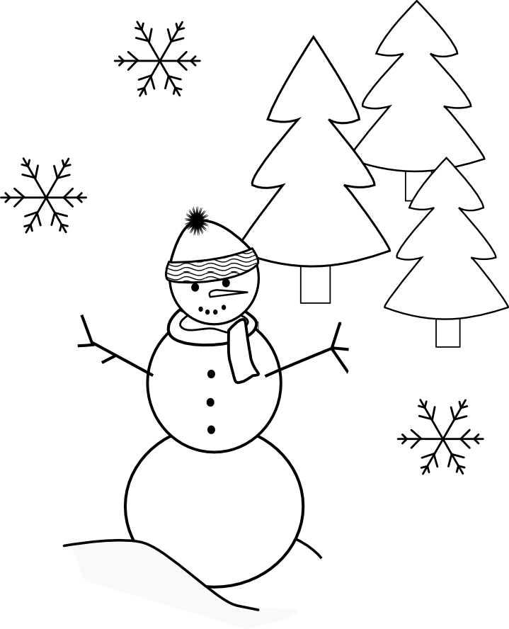free coloring pages winter wonderland - photo#4