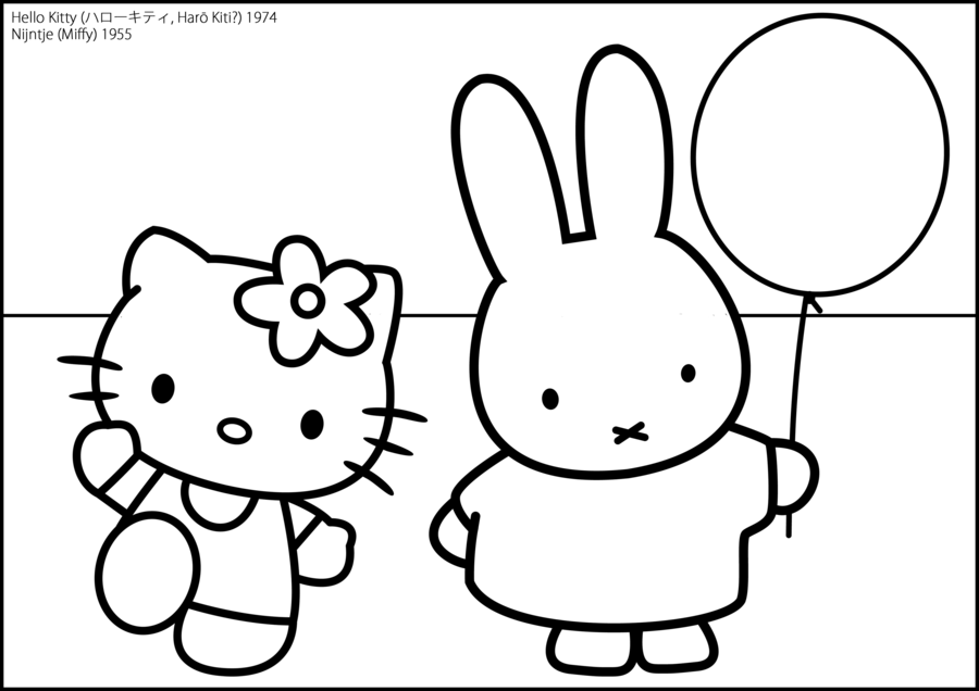 Miffy Coloring Pages Coloring Home Free Printable Hello Coloring Pages