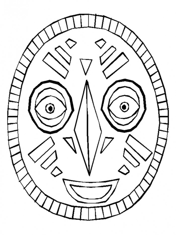 African mask coloring page az coloring pages for Printable african masks coloring pages