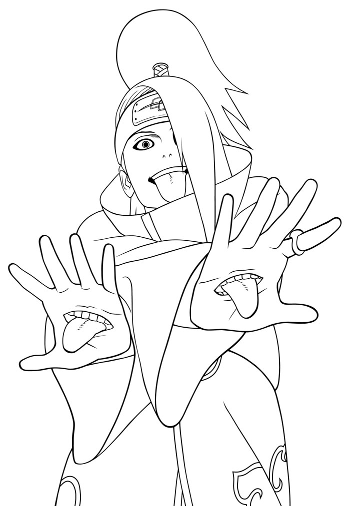 Printable bleach coloring pages az coloring pages for Bleach color pages