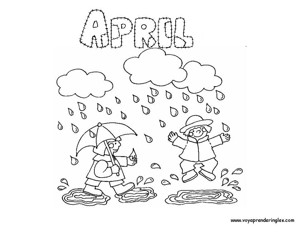 month of april coloring pages | Months Of The Year Coloring Pages - Coloring Home
