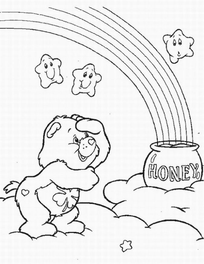 care bear coloring pages christmas - photo#4