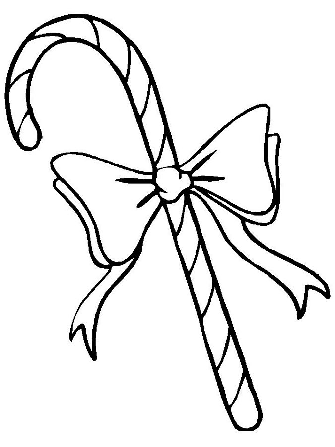 christmas bow coloring pages - photo #12