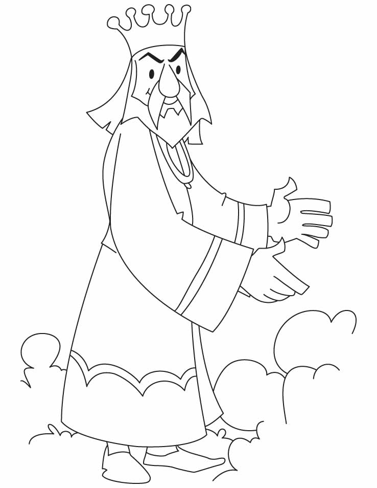 King Coloring Page Coloring Home King Coloring Pages