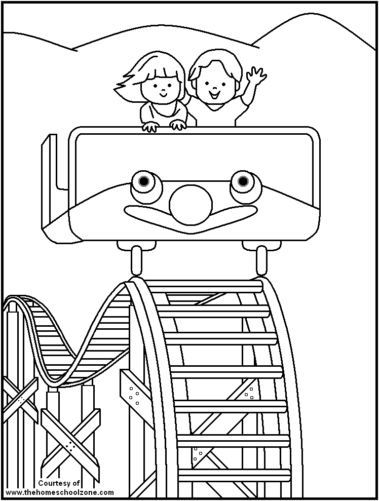 Carnival Coloring Page Coloring