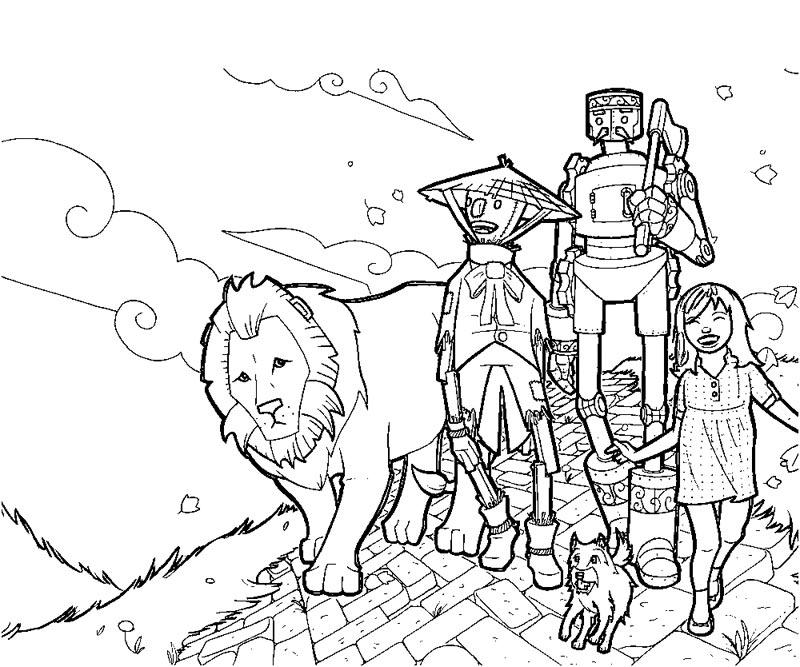 Wizard Of Oz Printable Coloring Pages Coloring Home Printable Wizard Of Oz Coloring Pages