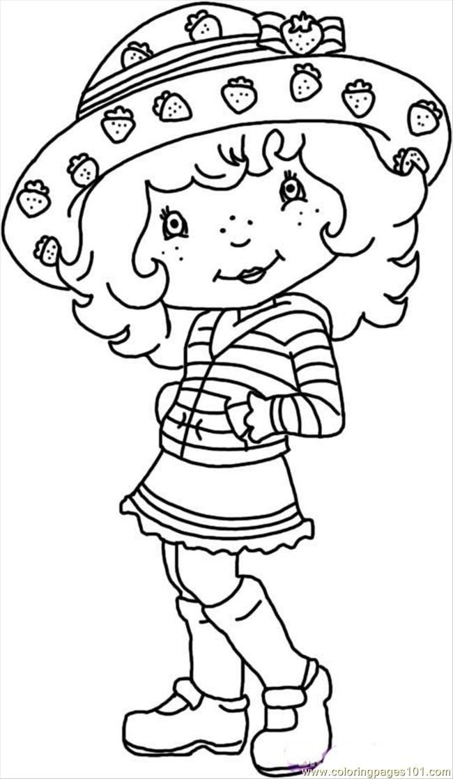 Vintage Strawberry Shortcake Coloring Pages Coloring Home Strawberry Shortcake Coloring Pages Free